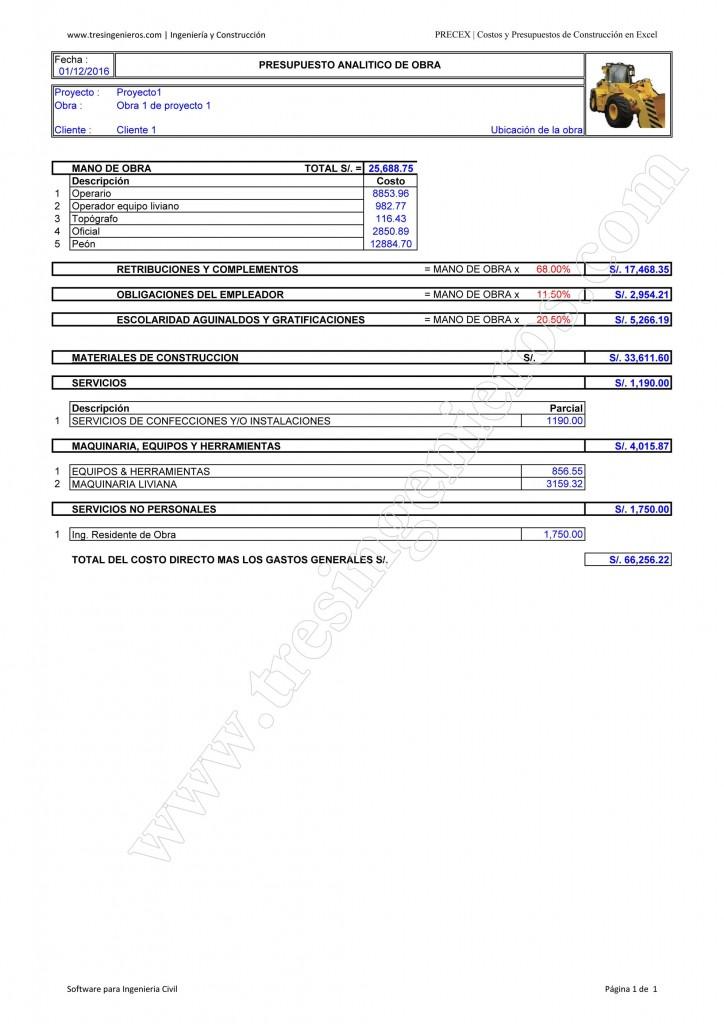 Como hacer un presupuesto de obra costo de la for Presupuesto piscina obra