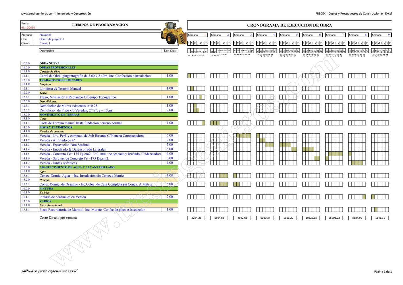 Como Hacer Un Presupuesto De Obra Costo De La Construccion En  ~ Ejemplo De Un Presupuesto Reforma Baño