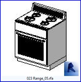 Familias para Revit | Cocina | 023 Cocina con horno modelo 05