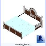 Familias para Revit | Dormitorio | 030 Cama modelo 19