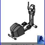 Familias para Revit | Gimnasio | 002 Maquina para ejercicio de piernas modelo 01