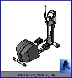 Familias para revit gimnasio 002 maquina para - Equipamiento de gimnasios ...