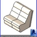 Familias para Revit | Sala| 030 Sofa modelo 06