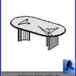 Familias para Revit | Mesas | 010 Mesa para comedor modelo 02