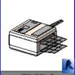 Familias para Revit | Oficina | 030 Maquina de fax modelo 02