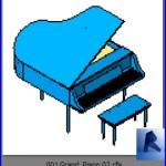 Familias para Revit | Pianos | 001 Piano modelo 01