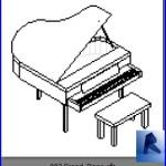 Familias para Revit | Pianos | 002 Piano modelo 02