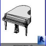 Familias para Revit | Pianos | 003 Piano modelo 03