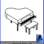 Familias para Revit | Pianos | 004 Piano modelo 04