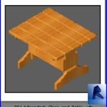 Familias para Revit | Sillas| 001 Silla y mesa modelo 01