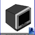 Familias para Revit | Televisores| 001 Televisor modelo 01