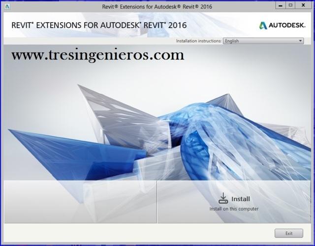 Autodesk Revit Extensions 2016 - Enlace directo - 1 link - 3 Ing