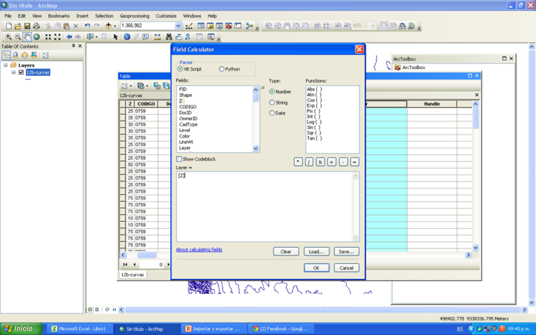 imp y exp a cad 07 - calculadora de campo