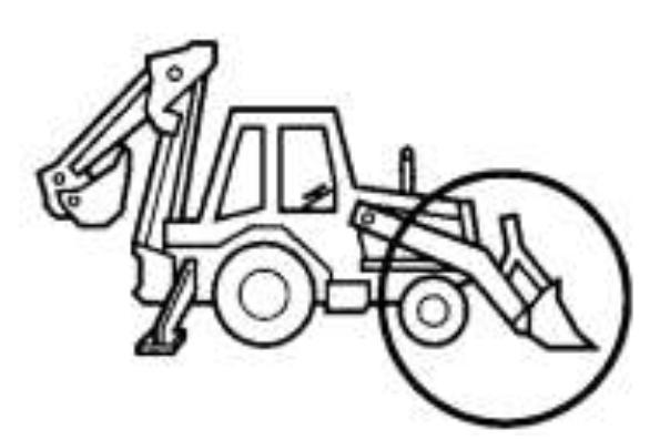 54 retroexcavadoras - funcion de ruedas