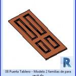 Familias para Revit | 23 Hojas de Puertas | 08 Puerta Tablero – Modelo 2