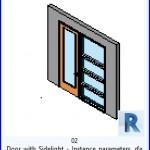 Familias para Revit | 36 Puertas con Ventana | 02 Puerta con parámetros lnstance Cua .rfa