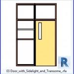 Familias para Revit | 36 Puertas con Ventana | 03 Puerta con Luz lateral y.transome .rfa