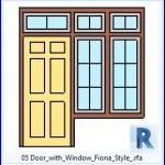 Familias para Revit | 36 Puertas con Ventana | 05 Puerta con ventana Fiona Estilo .rfa