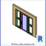 Familias para Revit | 36 Puertas con Ventana | 06 Puerta con windows .rfa