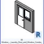 Familias para Revit | 36 Puertas con Ventana | 09 ventana de la puerta y la ventana de lavandería Combo .rfa