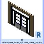 Familias para Revit | 36 Puertas con Ventana | 10 Marco metálico hueco w Centrar marco de la puerta doble w Lite travesaño Sidelite .rfa