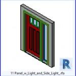 Familias para Revit | 36 Puertas con Ventana | 11 Panel w Luz y Lado de la Luz .rfa