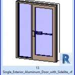 Familias para Revit   36 Puertas con Ventana   13 individual exterior de aluminio puerta con Sidelite .rfa
