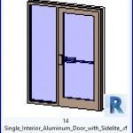 Familias para Revit   36 Puertas con Ventana   14 Individual lnterior de aluminio Puerta con Sidelite .rfa