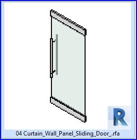 Familias Para Revit 37 Puertas Corredizas 04 Panel De Muro