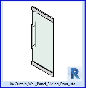 Familias para revit 37 puertas corredizas 04 panel de for Puertas corredizas revit