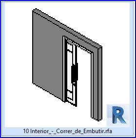 Familias para revit 37 puertas corredizas 10 lnterior for Puertas corredizas revit