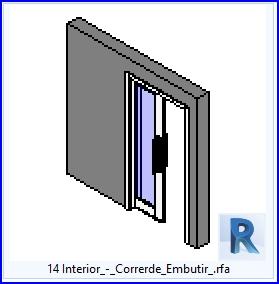 Familias para revit 37 puertas corredizas 14 lnterior for Puertas corredizas revit
