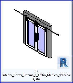 Familias para revit 37 puertas corredizas 23 lnterior for Puerta corrediza externa