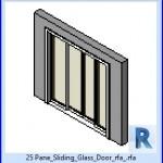 Familias para Revit | 37 Puertas corredizas | 25 Panel de puerta corredera de cristal rfa .rfa