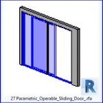 Familias para Revit | 37 Puertas corredizas | 27 paramétrico operable para puertas corredizas con .rfa