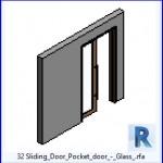 Familias para Revit   37 Puertas corredizas   32 Puertas correderas de puerta corrediza de cristal .rfa