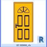 Familias para Revit | 38 Puertas de 1 hoja | 001 900MM .rfa