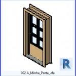 Familias para Revit | 38 Puertas de 1 hoja | 002 A Minha Porta .rfa