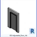 Familias para Revit | 38 Puertas de 1 hoja | 003 ajustable de la puerta .rfa