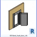 Familias para Revit | 38 Puertas de 1 hoja | 005 puerta del banco Vault .rfa