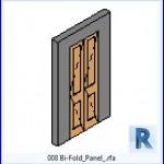 Familias para Revit | 38 Puertas de 1 hoja | 008 Bi Pliegue Panel .rfa