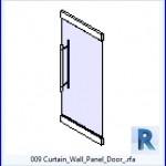 Familias para Revit | 38 Puertas de 1 hoja | 009 Cortina Panel puerta de la pared .rfa