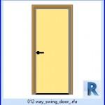 Familias para Revit | 38 Puertas de 1 hoja | 012 manera de la puerta abatible .rfa