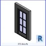 Familias para Revit | 38 Puertas de 1 hoja | 013 puertas .rfa