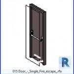 Familias para Revit   38 Puertas de 1 hoja   015 Una sola puerta de escape de incendios .rfa