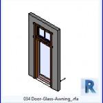 Familias para Revit | 38 Puertas de 1 hoja | 034 para puertas de vidrio Toldo .rfa
