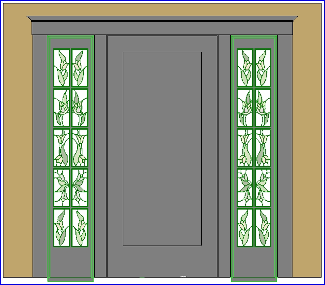 Familias para Revit | 38 Puertas de 1 hoja | 046 Exterior de la ...