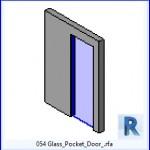 Familias para Revit | 38 Puertas de 1 hoja | 054 para puerta corrediza de cristal .rfa