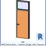 Familias para Revit   38 Puertas de 1 hoja   056 HM marco de la puerta lnterior Individual con travesaño .rfa