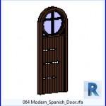 Familias para Revit | 38 Puertas de 1 hoja | 064 Modern español Door .rfa